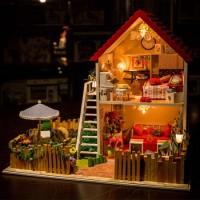 星夢園手工拼裝房子模型聲控燈DIY小屋