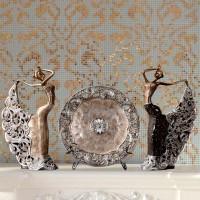 孔雀舞女歐式家居裝飾擺件喬遷禮物
