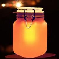七彩色陽光罐 存儲陽光的罐子