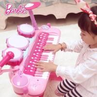 芭比琴鼓二合一炫彩兒童電子琴