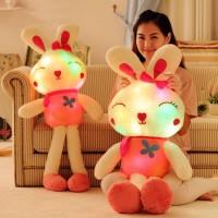 七彩發光兔公仔毛絨玩具