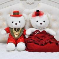 情侶婚紗熊大號婚慶壓床公仔結婚禮物