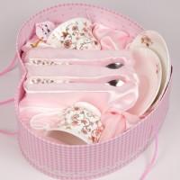 實用結婚禮物高檔薔薇花愛心禮盒套裝