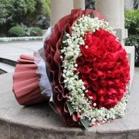 情人節求婚99朵紅玫瑰鮮花速遞