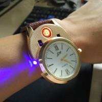 創意個性禮物充電手表打火機