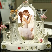 創意結婚禮物定制日期浪漫燭臺