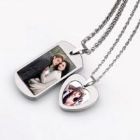可印照片鎢金情侶項鏈情侶禮物