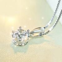白鉆銀鏈皇冠項鏈女友生日禮物