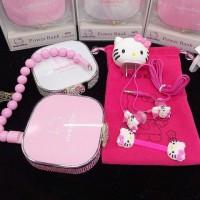 可愛卡通鑲鉆KT貓充電寶女友禮物