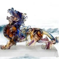 古法琉璃招財貔貅擺件開業禮物